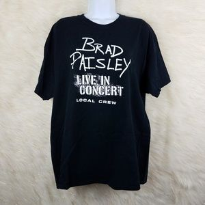 Brad paisley live in concert local crew band tee